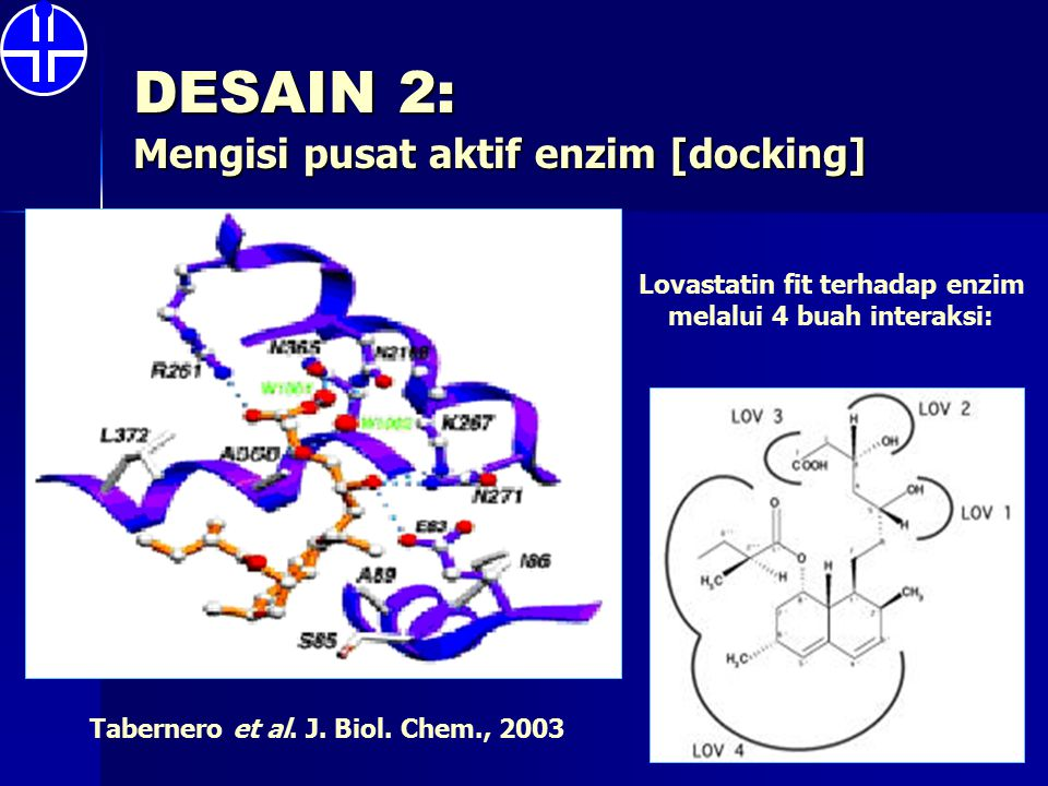 DESAIN 2: Mengisi pusat aktif enzim [docking]
